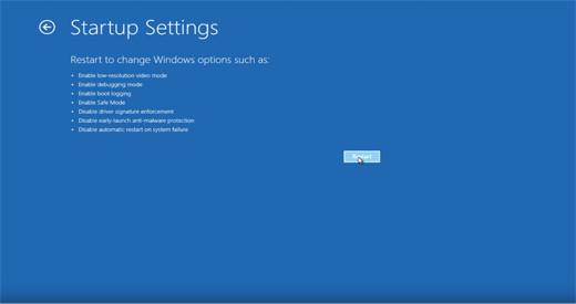 Windows10 Startup Settings