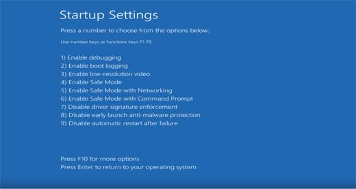 Windows10 Disable driver signature enforcement