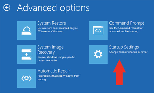 Windows8 advanced options