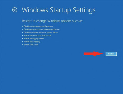 Windows8 restart